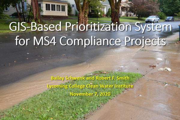 GIS-based prioritization system for MS4 compliance projects