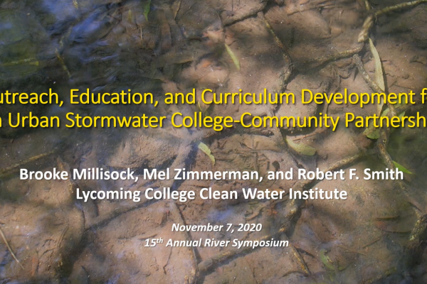 Outreach, education, and curriculum development for an urban stormwater college-community partnership