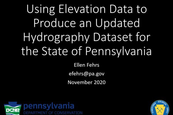 Using Elevation Data to Produce an Updated Hydrography Dataset for the State of Pennsylvania